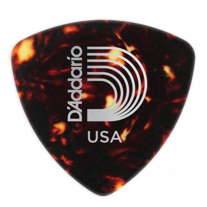 Shell-Color Celluloid Guitar Picks, 10 pack, Medium, Wide Shape