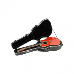 SKB Acoustic Deep Roundback Shaped Hardshell - TSA Latch, Over-Molded Handle