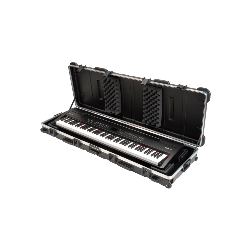 ata 88 note slim line keyboard case w wheels tsa locking trigger latch from rimmers music. Black Bedroom Furniture Sets. Home Design Ideas