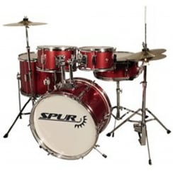 Spur RSJD1 Junior Starter Drum Kit Metallic Red