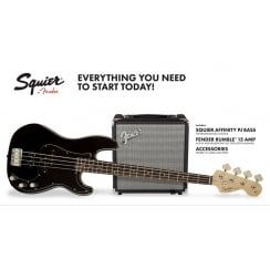 Squier Affinity PJ Bass Pack 15G Black