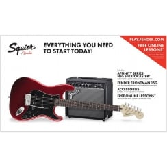 Squier Affinity Stratocaster Pack 15G HSS Candy Apple Red