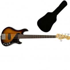 Deluxe Dimension Bass V, Rosewood Fingerboard, 3-Color Sunburst | Includes Gigbag