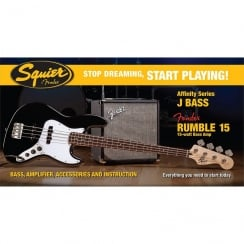 Squier SDSP Affinity J Bass Pack With 15G Amp | Black