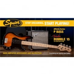 Squier SDSP Affinity P Bass Pack With 15G Amp | BSB