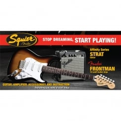 Squier SDSP Affinity Strat Elec Guitar Pack With 10G Amp | BSB