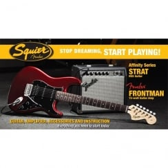 Squier SDSP Affinity Strat HSS Elec Guitar Pack With 15G Amp | CAR