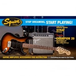 Squier SDSP Affinity Strat HSS Elec Guitar Pack With Ch20 Amp | BSB