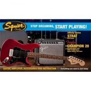 Squier  SDSP Affinity Strat HSS Elec Guitar Pack With Ch20 Amp | CAR