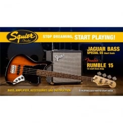 Squier SDSP Jaguar Bass SS Pack With 15 Amp | BSB