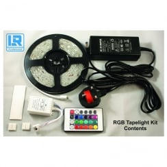 LR Technology Tape Light 12V 150 LED 5M With PSU RGB IP65