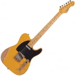 Vintage V52Mrbs V52 Icon Electric Guitar - Butterscotch