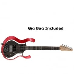 VOX Starstream Type 1 Modelling Electric Guitar | Metallic Red Frame with See-Through Semi-Gloss Black body