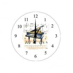 My Music Gifts Wall Clock Piano Design 30cm