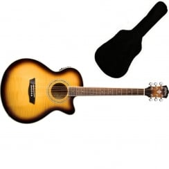 Washburn EA15ATB Electro-Acoustic Guitar| Includes Gigbag