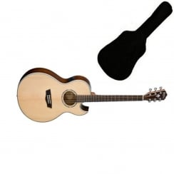 Washburn EA20SNB Signature Electro Acoustic Guitar| Includes Gigbag