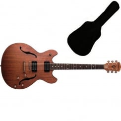 Washburn HB32 Hollow Body Guitar Distressed Matte | Includes Gigbag