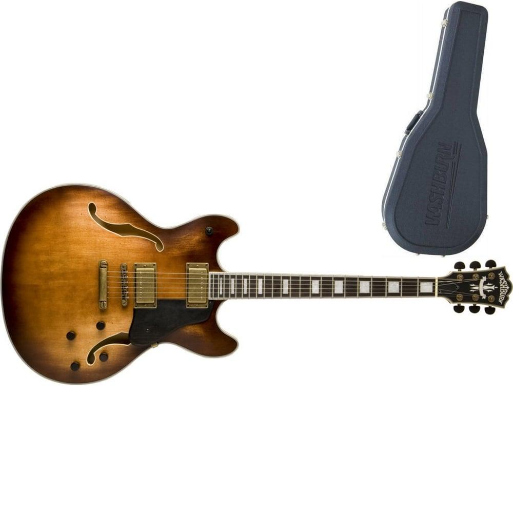 washburn hb36k hollow body guitar vintage matte from rimmers music. Black Bedroom Furniture Sets. Home Design Ideas