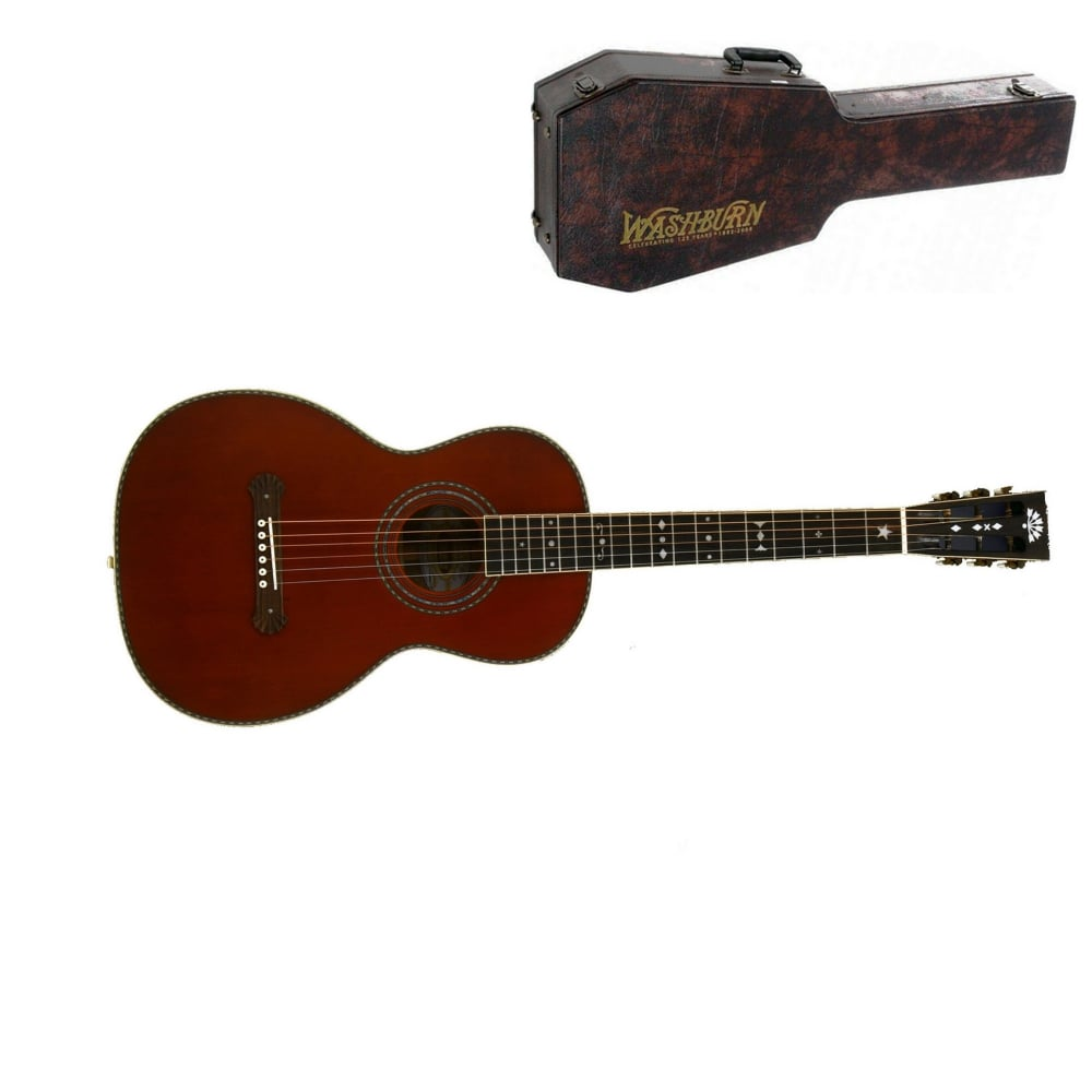 washburn r314k parlour acoustic guitar natural from rimmers music. Black Bedroom Furniture Sets. Home Design Ideas