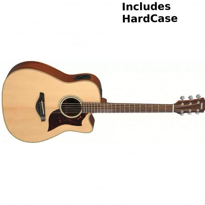 yamaha a1m electro acoustic guitar natural from rimmers music. Black Bedroom Furniture Sets. Home Design Ideas