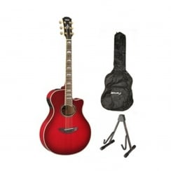 Yamaha APX1000 Electro Acoustic Guitar Package | Crimson Redburst