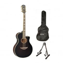 Yamaha APX1000 Electro Acoustic Guitar Package | Mocha Black