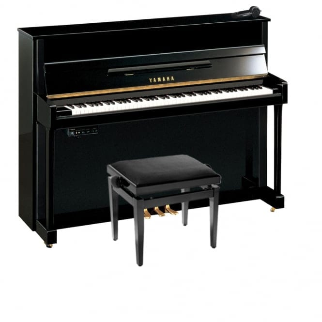Yamaha b2 SG2 Silent Piano | Polished Ebony w/Chrome Fittings