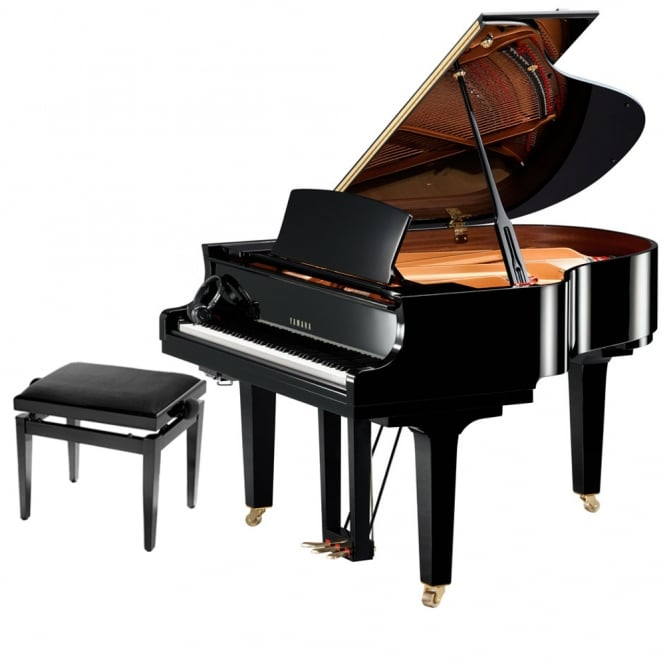 Yamaha C1X SH Silent Grand Piano | Polished Ebony