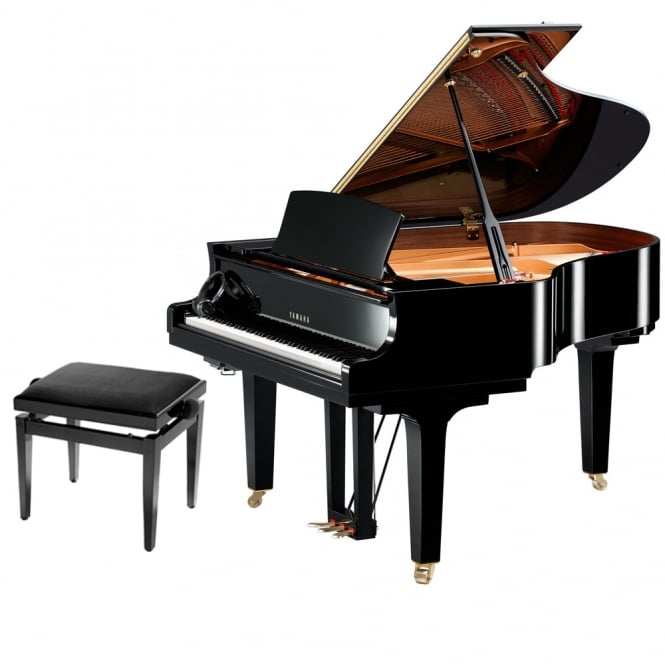 Yamaha C2X SH Silent Grand Piano | Polished Ebony