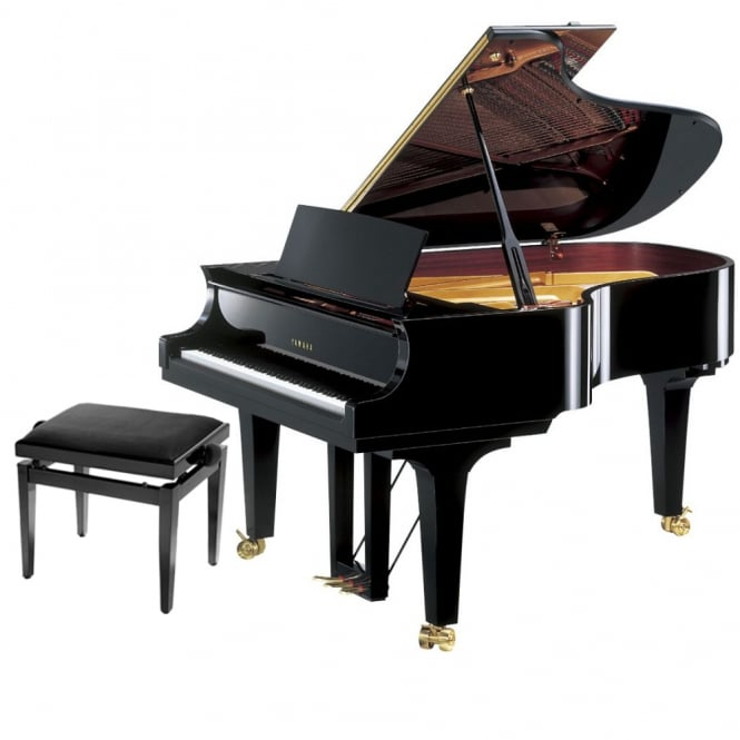 Yamaha CF4 Handcrafted Grand Piano | Polished Ebony