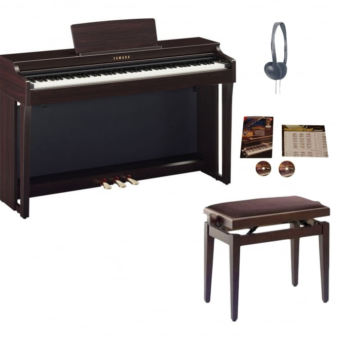 yamaha clp625 digital piano rosewood package from. Black Bedroom Furniture Sets. Home Design Ideas