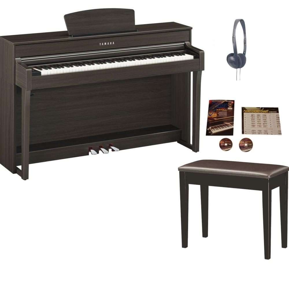 yamaha clp 635 clavinova digital piano dark walnut package from rimme. Black Bedroom Furniture Sets. Home Design Ideas