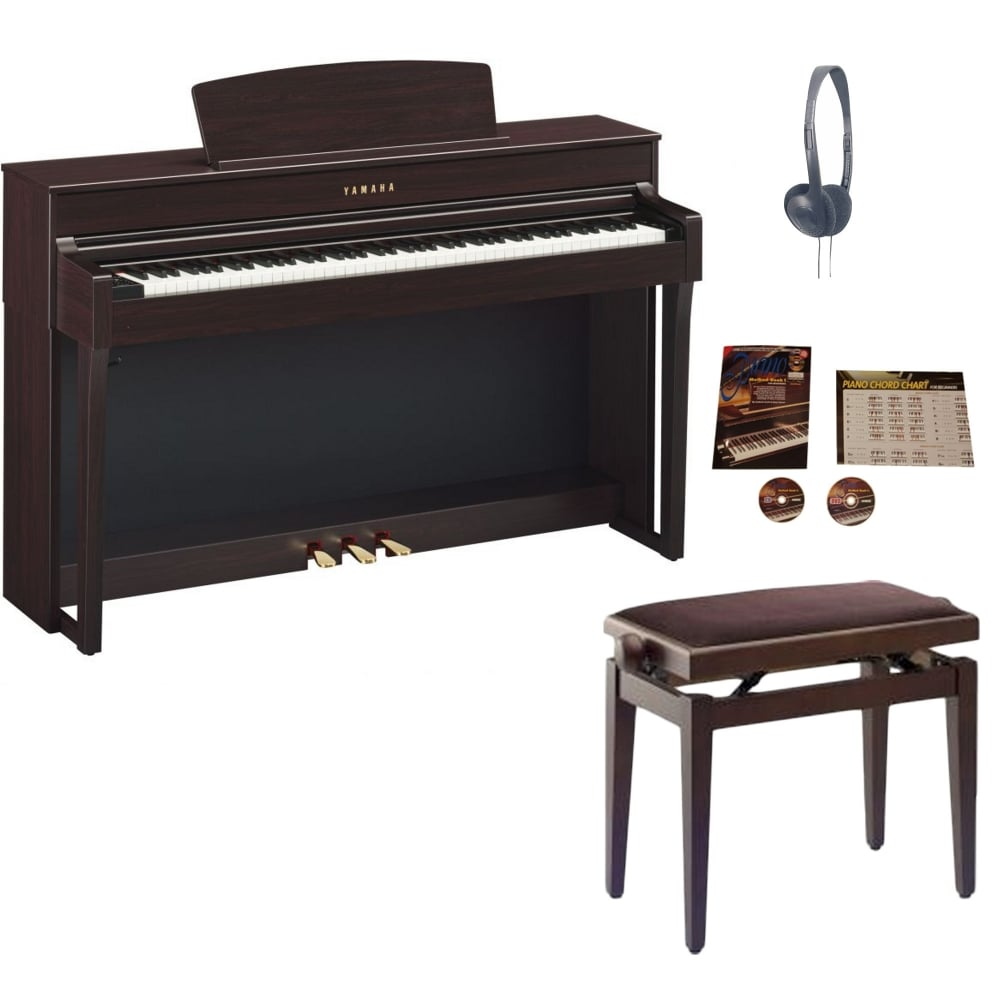 Yamaha Clp 645 Clavinova Digital Piano Rosewood Package From Rimmers M