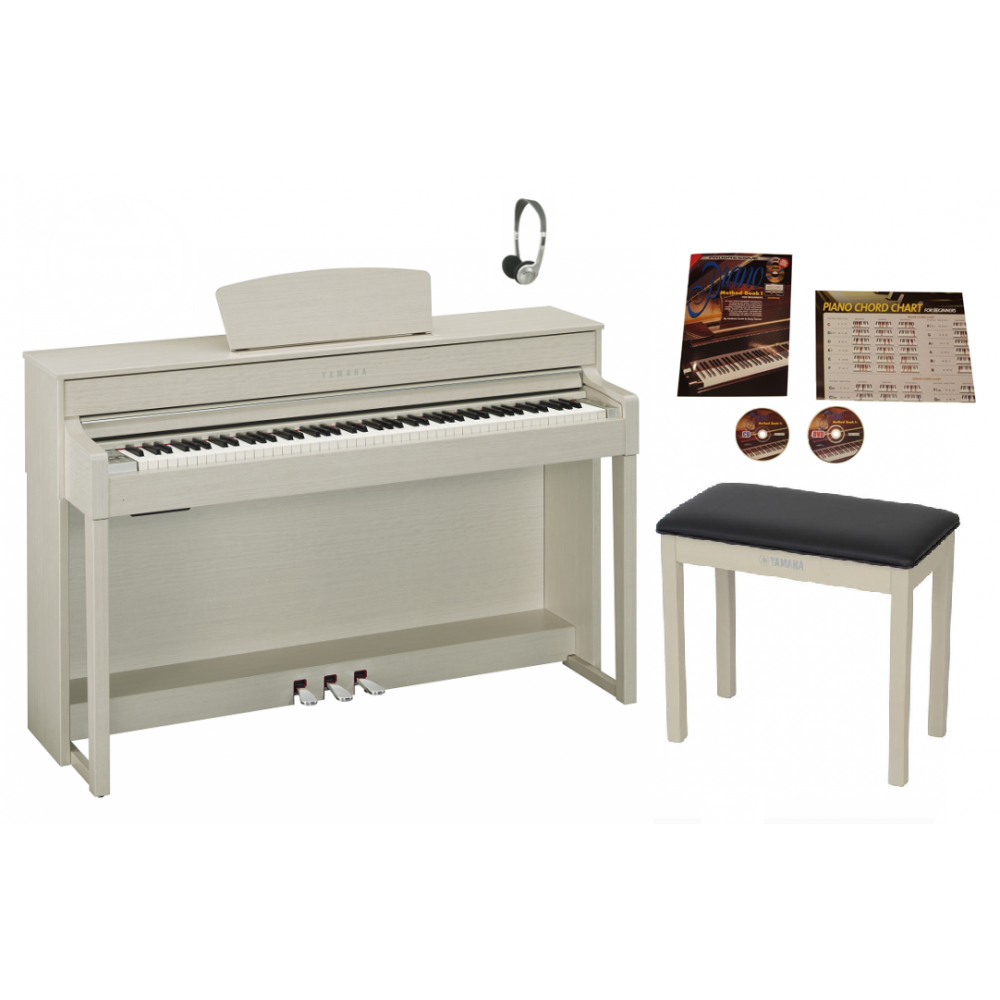 Yamaha clp535wa digital piano white ash from rimmers music for Yamaha clp 535 for sale