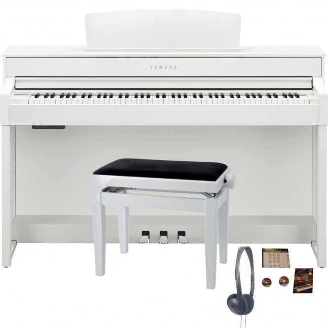 Yamaha CLP545WH Digital Piano Bundle | White