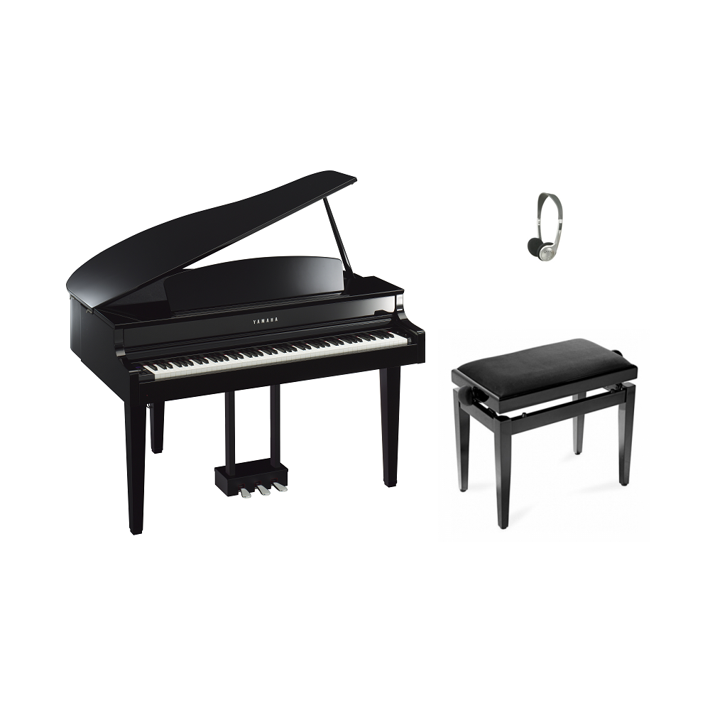 yamaha clp565gp digital piano black from rimmers music. Black Bedroom Furniture Sets. Home Design Ideas