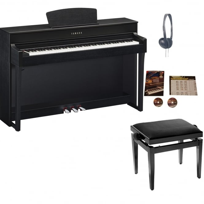 Yamaha CLP635BW Clavinova Digital Piano Package Black Walnut