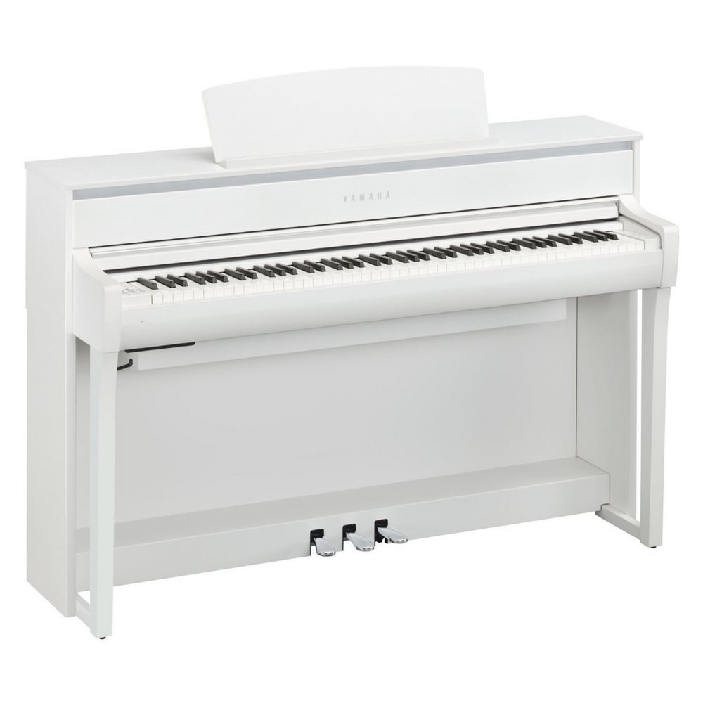 yamaha clp675wh clavinova digital piano white. Black Bedroom Furniture Sets. Home Design Ideas