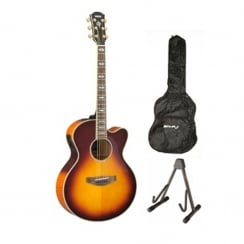 Yamaha CPX1000 Electro Acoustic Guitar Package | Brown Sunburst