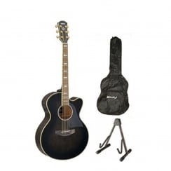 Yamaha CPX1000 Electro Acoustic Guitar Package | Mocha Black