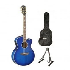Yamaha CPX1000 Electro Acoustic Guitar Package | Ultramarine