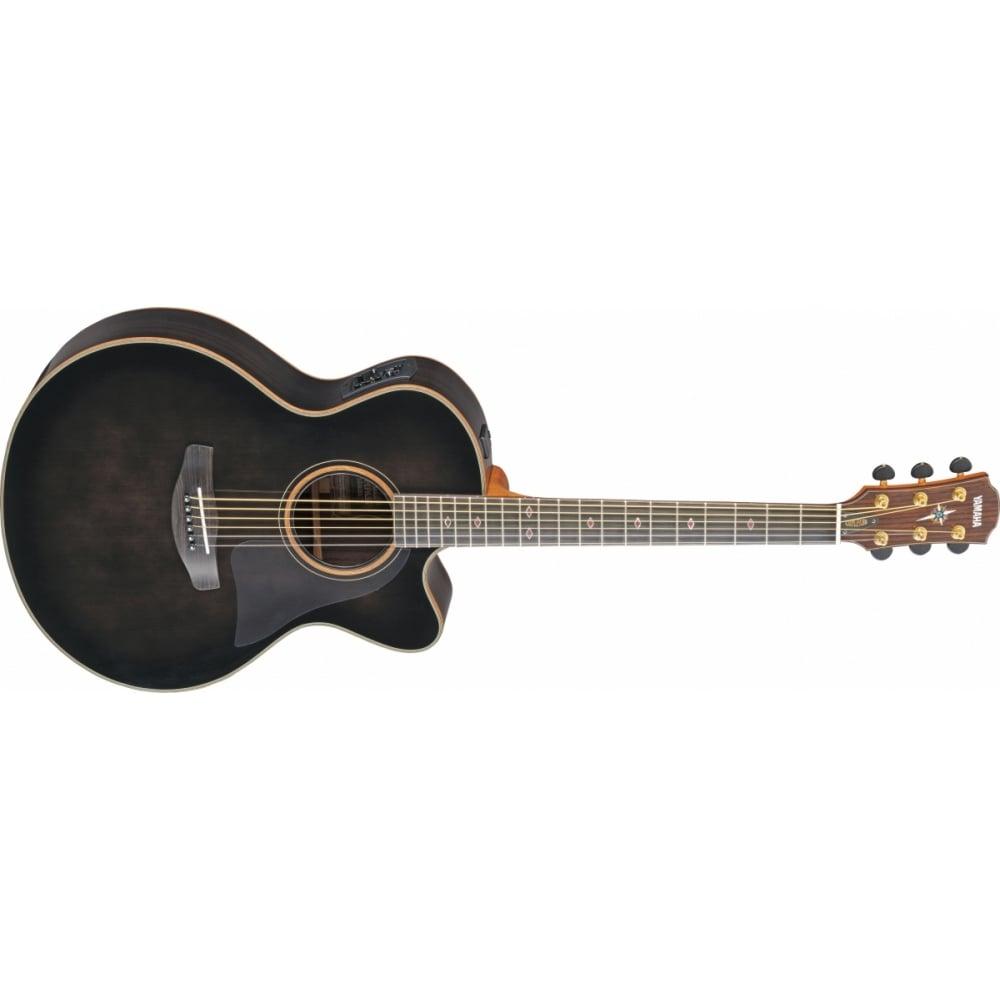 Yamaha Cpx1200ii Electro Acoustic Guitar Translucent Black