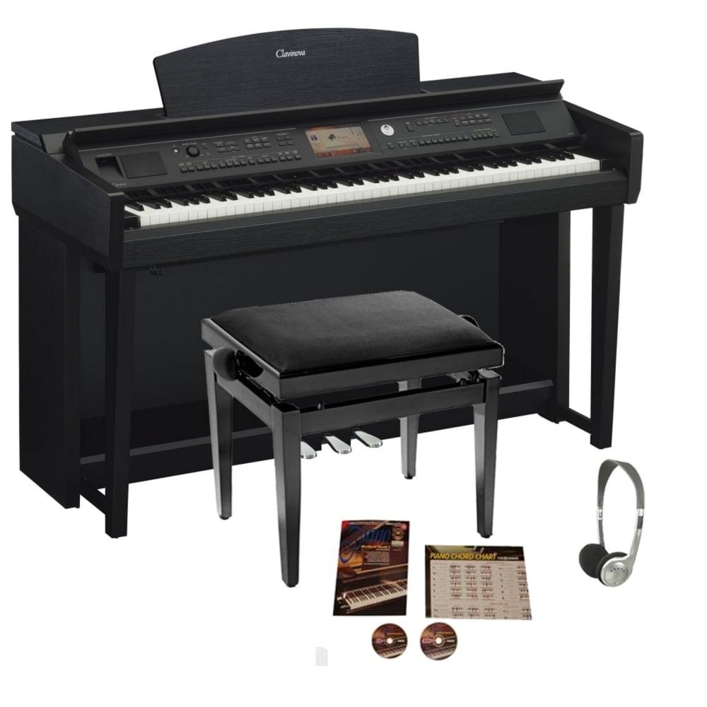 Yamaha cvp 705 clavinova digital piano black walnut from for Yamaha clavinova cvp 705