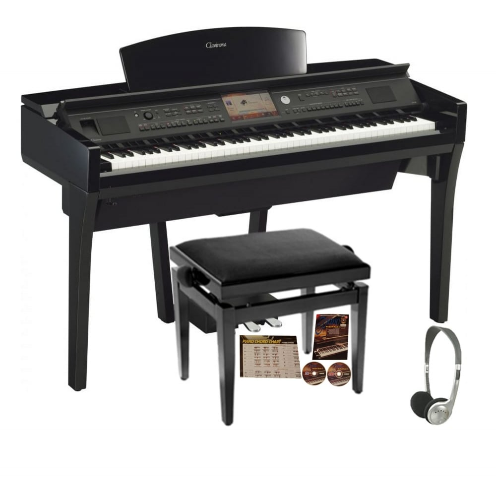 Yamaha cvp 709 clavinova digital piano walnut black from for Yamaha clavinova price list