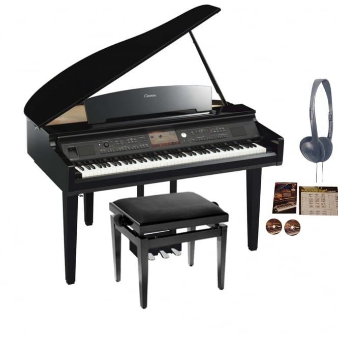 yamaha cvp 709gp clavinova digital piano polished ebony