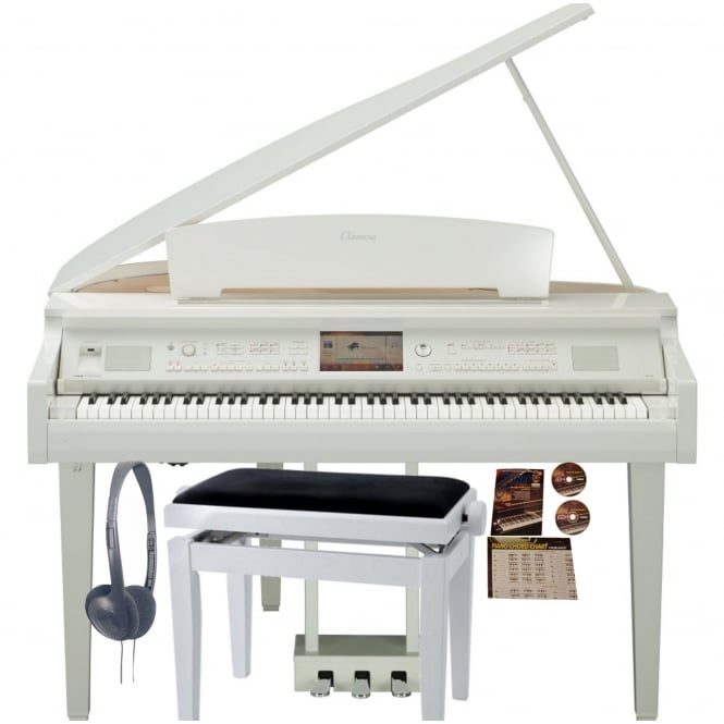 Yamaha CVP 709GP Clavinova Digital Piano | Polished White