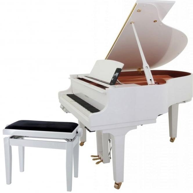 Yamaha DC1X E3 Pro Disklavier Grand Piano | Polished White