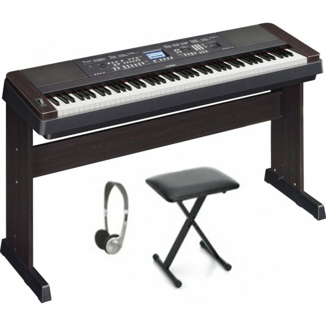 Yamaha DGX650 Keyboard Accessory Package | Black(replaces dgx640)