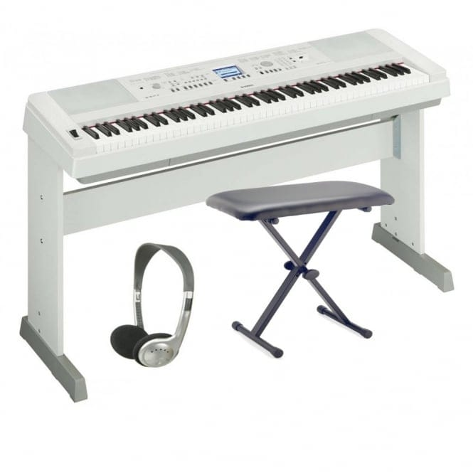 Yamaha DGX650 Keyboard Accessory Package | White(replaces dgx640)
