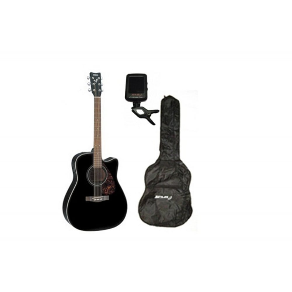 yamaha f370c acoustic guitar black with uk mainland delivery. Black Bedroom Furniture Sets. Home Design Ideas